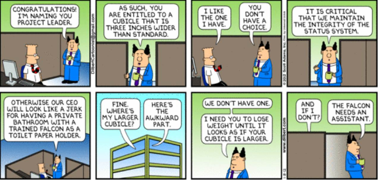 Dilbert on Cabin Culture in Offices
